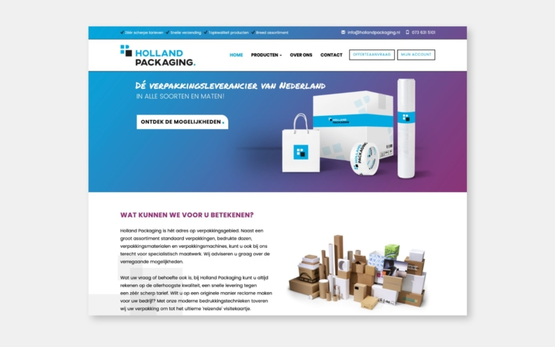 Webdesign-Holland packaging